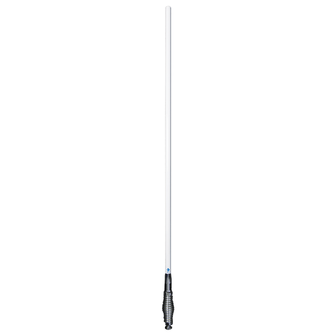 RFI CDR7195 - 4G LTE Cellular Mobile Antenna - 698-2700MHz (White / Bright Chrome Spring) 930mm - Point to Point Distributions