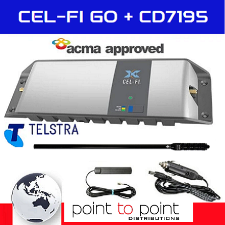 Cel-Fi GO Telstra Mid 4WD/Trucker Vehicle Pack incl mid size 89cm RFI CD7195-B (6.5dBi) Antenna - Point to Point Distributions