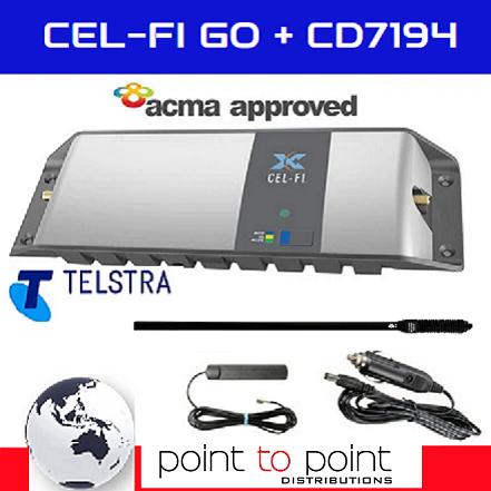 Products Cel-Fi GO Telstra Mini 4WD/Trucker Vehicle Pack incl compact 65cm RFI CD7194-B (5.5dBi) Antenna - Point to Point Distributions