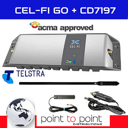 Cel-Fi GO Telstra Maxi 4WD/Trucker Vehicle Pack incl the elite 114cm RFI CD7197-B (7.5dBi) Antenna - Point to Point Distributions