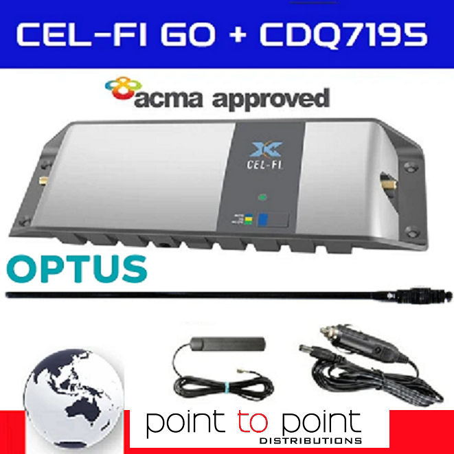 Cel-Fi GO Optus Vehicle Pack including 97cm RFI CDQ7195-B (6.5dBi) Antenna - Point to Point Distributions
