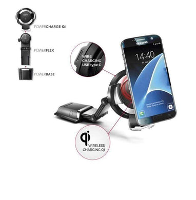 Bury Powerkit Qi - Universal Cradle Solution for Smartphone with Wireless Charging - Qi (Base+Arm+Cradle Qi 5 Watt)