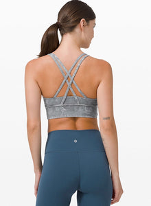 lululemon X LEANSQUAD Energy Bra Long Line Ice Dye
