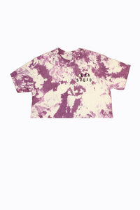Purple Grape LEANSQUAD Tie Dye Crop Top