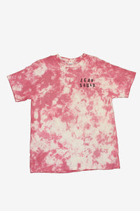 Strawberry Pink LEANSQUAD Tie Dye T-Shirt
