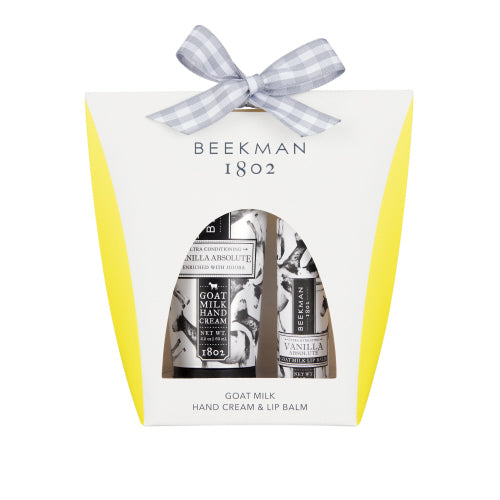 Beekman Vanilla Absolute - Hand Cream & Lip Balm Set