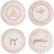 ELLEN  Holiday Accent Plates, Set of 4