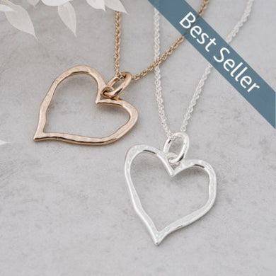 Glee - Giving Heart Necklace, Silver