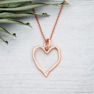 Glee - Giving Heart Necklace, Rose Gold