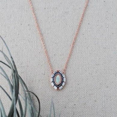 Glee - Dreamer Necklace, Rose Gold / Opal