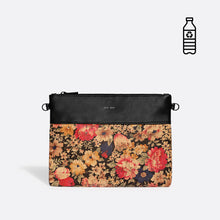 Pixie Mood NICOLE Pouch Small - Black/Dark Floral Cork
