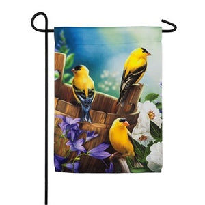 Evergreen - Goldfinch House Suede Flag
