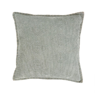Jacquard Velvet Cushion Mint 20x20
