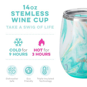 NEW Wanderlust SWIG Insulated Stemless Wine Cup 14onz