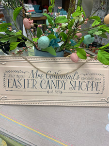 Easter Candy Shoppe Tin Sign