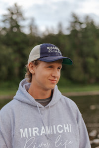 """Miramichi River Life"" NAVY Snap Back Hat"