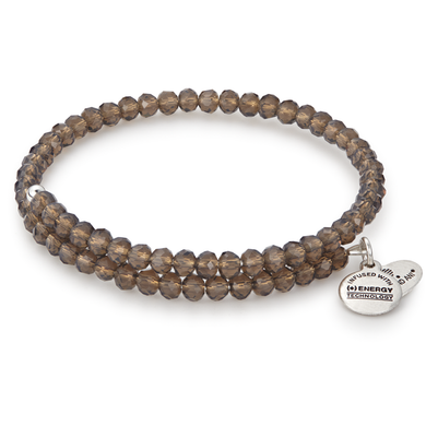 Alex and Ani -Wildberry Pebble Expandable Wrap, Silver Finish