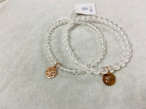 Glee - Stackem Up Bracelet, Rose Gold/Natural Crystal