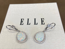 Elle Earrings: Opal Halo Collection