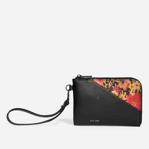 Pixie Mood STACY Wristlet - Black/Dark Floral