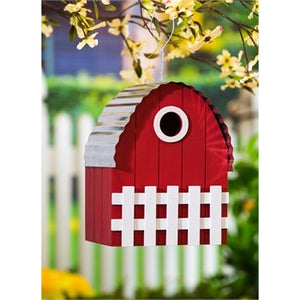 "Evergreen -  10.5""H Farmhouse Bird House"