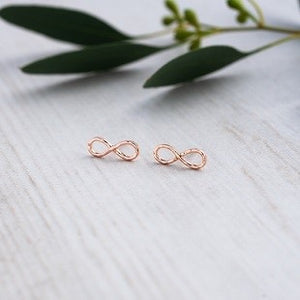 Glee - Infinity Studs, Rose Gold