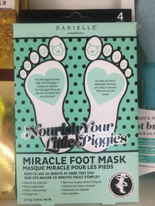 Danielle Nourishing Miracle Foot Masks (4PC/Box)