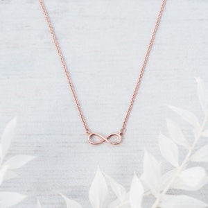 Glee - Infinity Necklace, Rose Gold