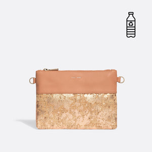 Pixie Mood NICOLE Pouch Small - Apricot/Metallic Rose Cork