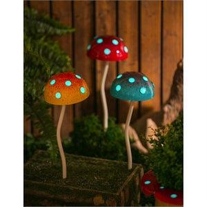 Evergreen - Glow in the Dark Mushroom Plant Pick