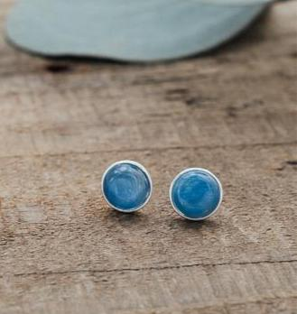 Glee - Anytime Studs, Silver/Kyanite