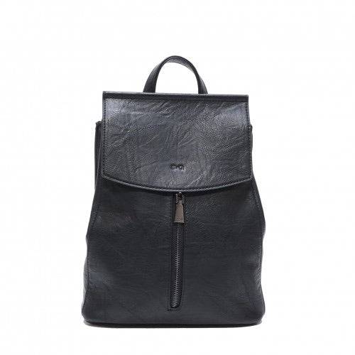 SQ CHLOE Black Convertible Backpack