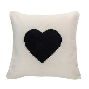 Amoroso Black Heart Cushion 20x20