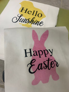 "Easter ""Happy Easter"" Dishtowel"
