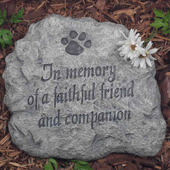 Evergreen - In Memory Of A Faithful Friend And Companion Stepping Stone