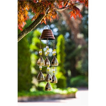 "Evergreen - 26"" Wind Chime, Beaded Beehives"