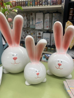 Easter Ceramic Bunnies (Assorted Sizes)