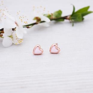 Glee - Cherish Studs, Rose Gold/Pink