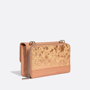 Pixie Mood JANE Bag - Apricot/Metallic Rose Cork