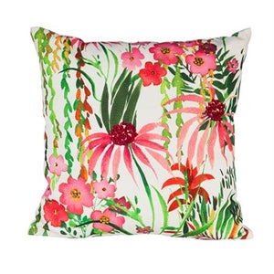 Evergreen - Outdoor Safe Canvas Pillow, Floral Prints