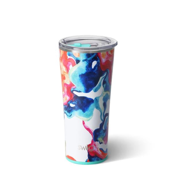 NEW Color Swirl SWIG Insulated Tumbler 22oz