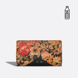 Pixie Mood SOPHIE Wallet - Dark Floral Cork