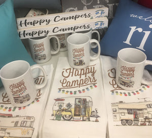 """Happy Campers"" Sign"
