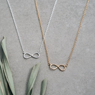 Glee - Infinity Necklace, Silver or Gold