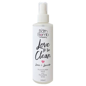 """Love to be Clean"" Alcohol Spray (Lemon & Lavender) 240ml"