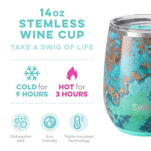 NEW Copper Patina SWIG Insulated Stemless Wine Cup 14onz