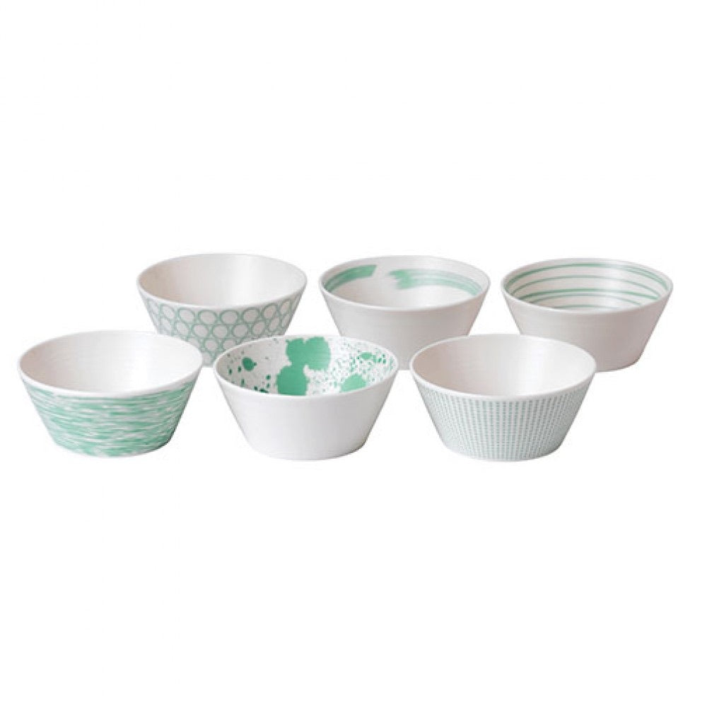 RD- Pacific Mint Tapas Bowl, Set of Six