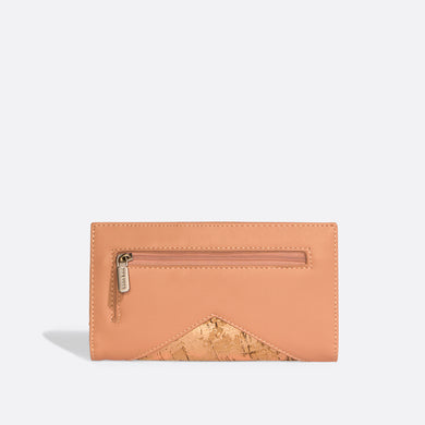 Pixie Mood SOPHIE Wallet - Apricot/Metallic Rose Cork
