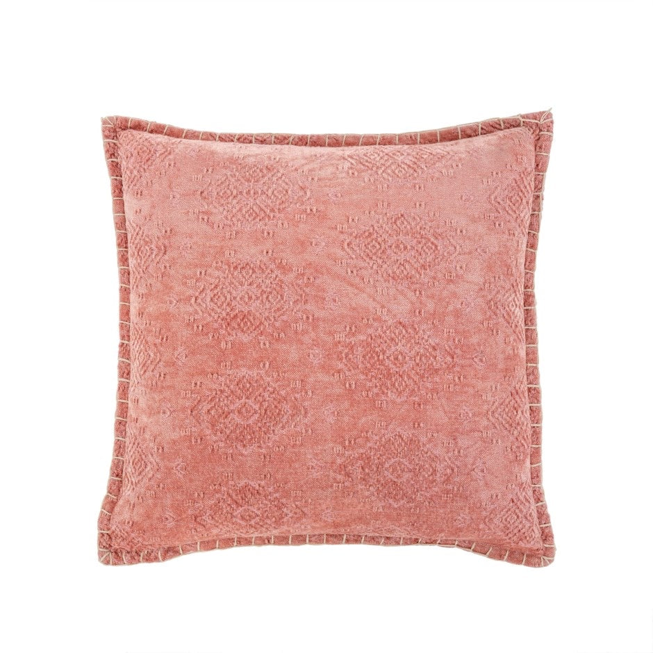 Jacquard Velvet Cushion Rose 20x20