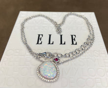 Elle Necklace: Opal Halo Collection